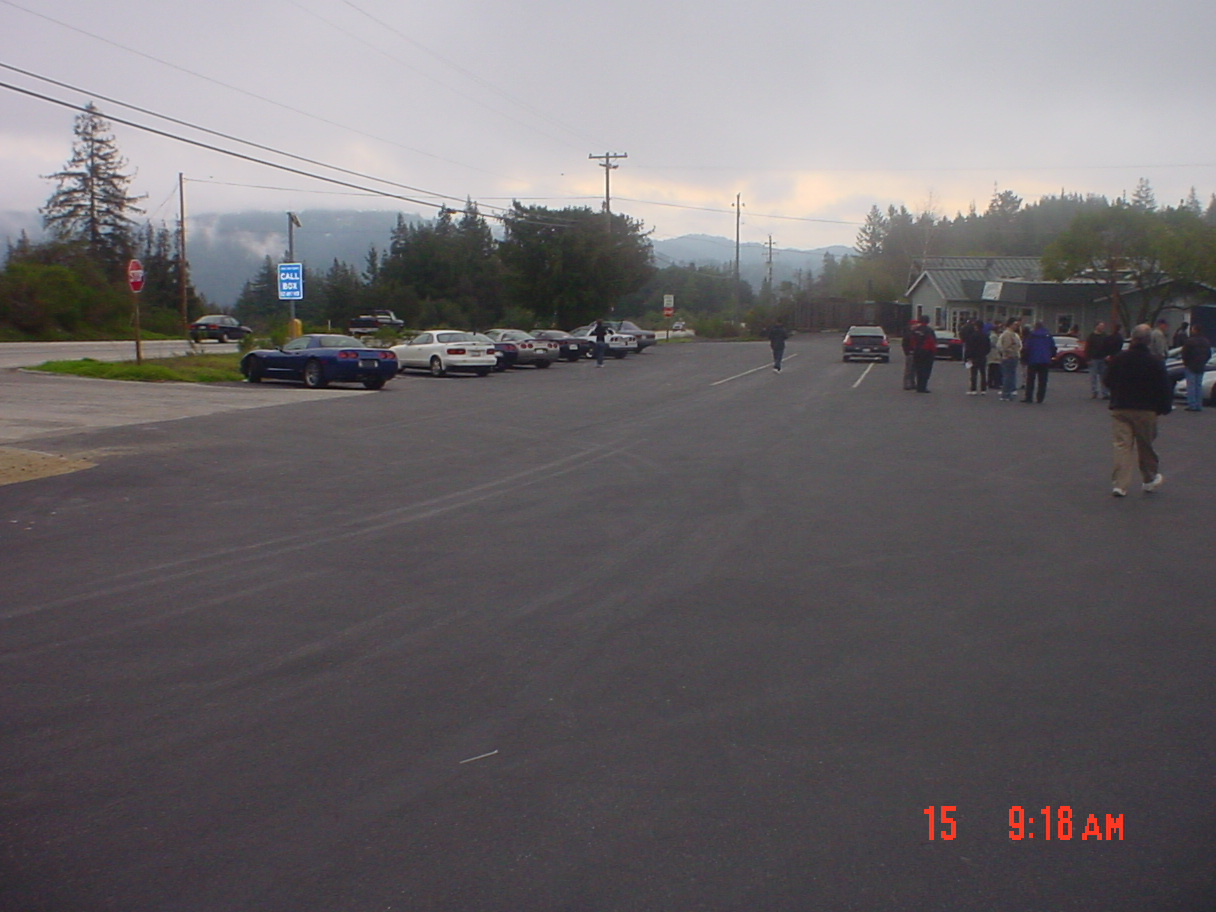 Parking lot at the summit
